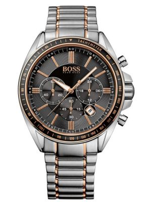 Mens Hugo Boss Driver Sport Stainless steel and rose gold 1513094 Watch