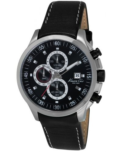 Mens Kenneth Cole Dress Sport Stainless steel leather chronograph KC8093 Watch