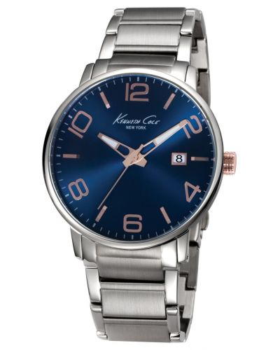 Mens Kenneth Cole Classic deep blue stainless steel KC9392 Watch