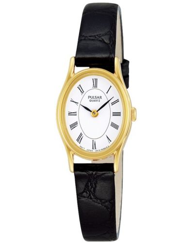 Womens Pulsar  Classic gold plated leather strap PPGD64X1 Watch