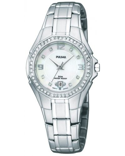 Womens Pulsar  Dress Wear crystal set stainless steel PXT797X1 Watch