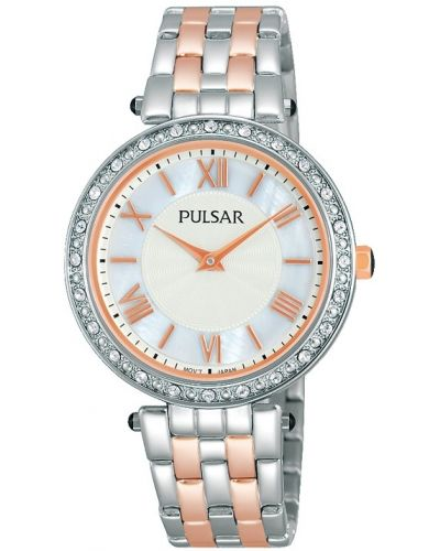Womens Pulsar  Dress Wear stainless steel rose gold highlighted PM2109X1 Watch