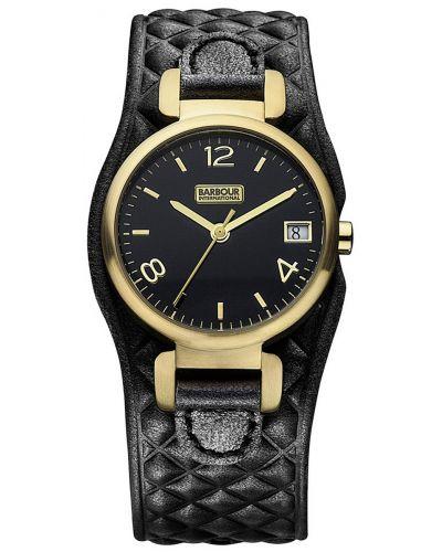 Womens Barbour International Hayle black leather cuff bb001bkbk Watch