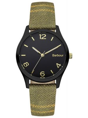 Mens Barbour Afton black ion plated fabric strap bb002bktr Watch