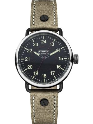 Mens Barbour International Fowler brown leather strap bb022bkbr Watch