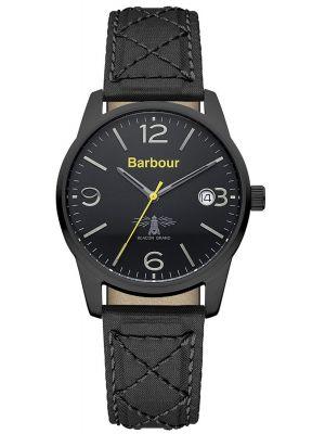 Mens Barbour Alanby matt black strap bb026bkbk Watch