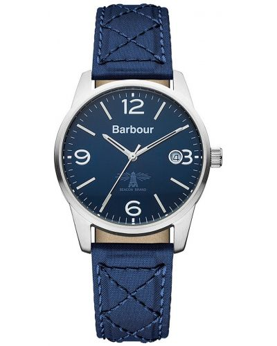 Mens Barbour Alanby stainless steel blue fabric strap bb026blbl Watch