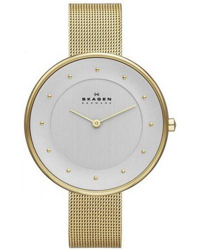 Womens Skagen Gitte Gold plated milanese thin strap skw2141 Watch