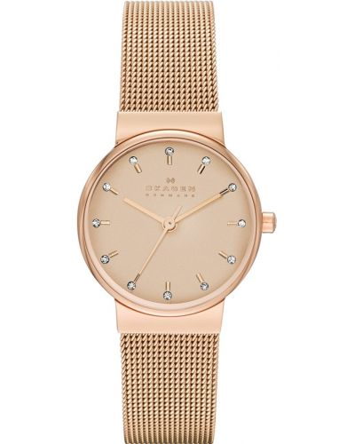Womens Skagen Ancher crystal set rose gold milanese strap skw2197 Watch