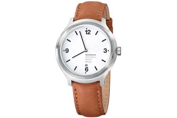 Mens Mondaine Helvetica No.1 Watch MH1.B1210.LG
