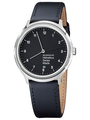 Mens Mondaine Helvetica No.1 Regular 40 MH1.R2220.LB Watch