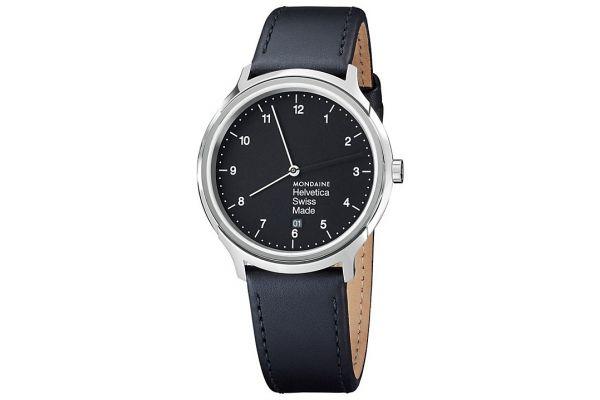 Mens Mondaine Helvetica No.1 Watch MH1.R2220.LB