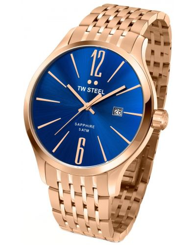 Mens TW Steel Slim Line rose gold plated tw1309 Watch