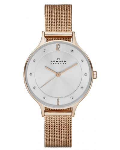 Womens Skagen Anita refined rose gold milanese strap skw2151 Watch
