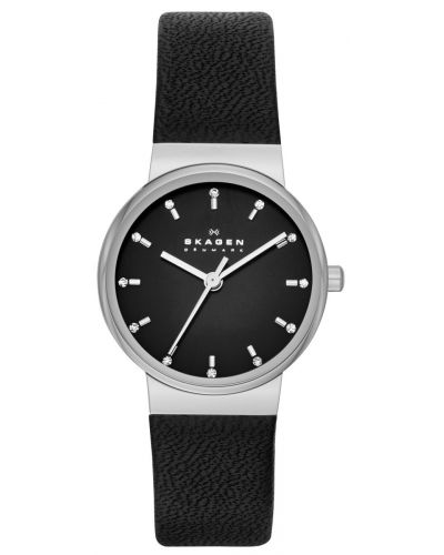 Womens Skagen Ancher stainless steel black leather strap skw2193 Watch