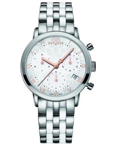 Womens 88 Rue Du Rhone 35mm Quartz Chronograph Mother of pearl Ceramic 87wa143508 Watch
