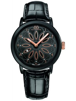 88 Rue Du Rhone 35mm Quartz Black diamond leather strap 87wa143501 Watch