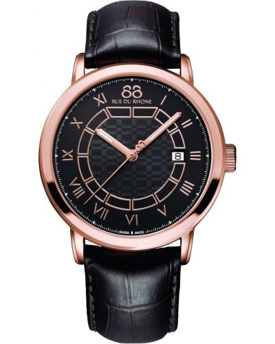 Mens 88 Rue Du Rhone 42mm Quartz Rose gold brown leather strap 87wa144205 Watch