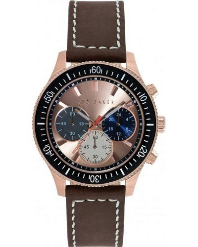 Mens Ted Baker Brown leather strap chronograph TE1125 Watch