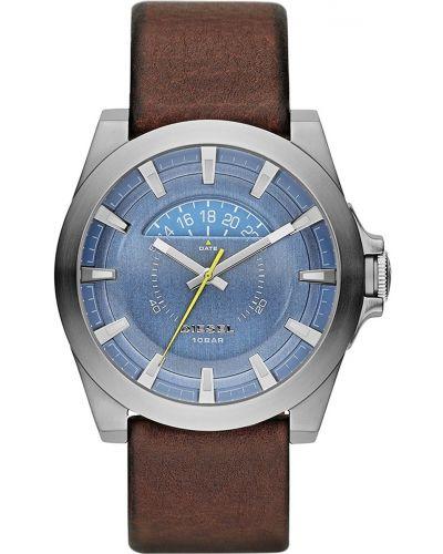 Mens Diesel Arges stainless steel brown leather strap DZ1661 Watch