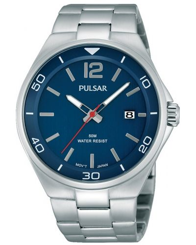 Mens Pulsar  Classic blue stainless steel PS9325X1 Watch