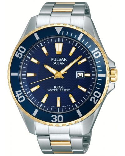 Mens Pulsar  Classic stainless steel gold highlighted PX3032X1 Watch