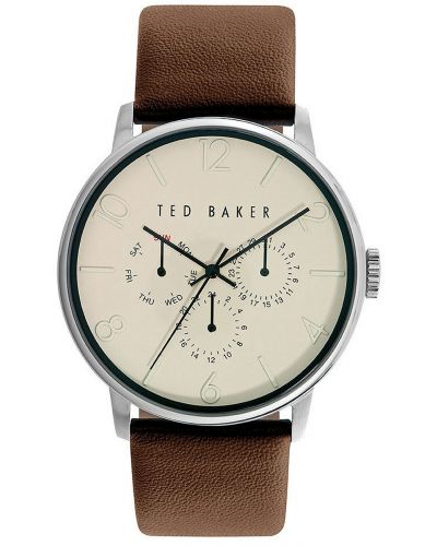 Mens Ted Baker Plain brown leather strap TE10023493 Watch