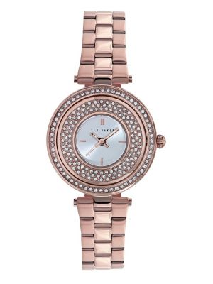 Womens Ted Baker Rose gold crystal set TE10023506 Watch