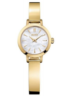 Womens Hugo Boss Slim Ultra Mini Gold plated mother of pearl 1502368 Watch