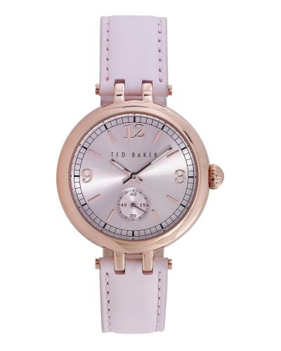 Womens Ted Baker Pink leather strap te10023476 Watch