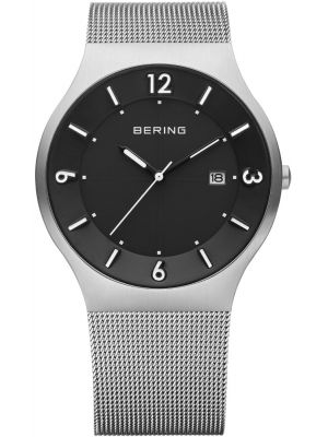 Mens Bering Solar Stainless steel milanese strap 14440-002 Watch
