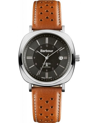 Mens Barbour Beacon classic leather strap BB018SLTN Watch