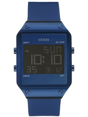 Mens Guess Radar Blue Alarm Chronograph W0595G2 Watch
