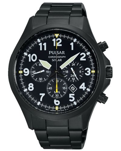 Mens Pulsar  Sports Black stainless steel px5003x1 Watch