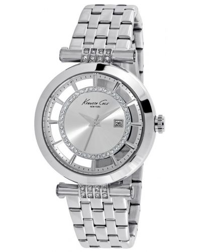 Womens Kenneth Cole Transparent Stainless steel crystal set kc10021103 Watch