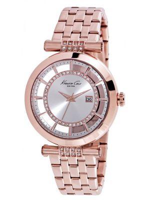 Kenneth Cole Transparent Rose gold plated cyrstal set kc10021106 Watch