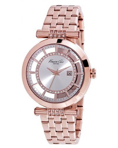 Womens Kenneth Cole Transparent Rose gold plated cyrstal set kc10021106 Watch