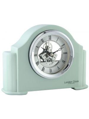 Mint green piano finish mantel clock   06421