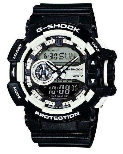 Mens Casio G Shock White and black GA-400-1AER Watch