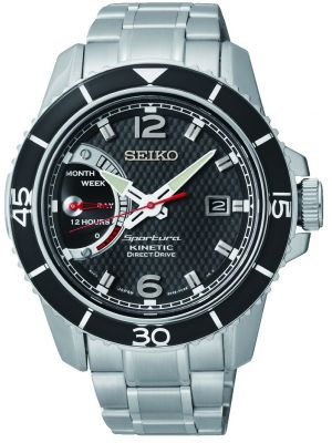 Mens Seiko Sportura Direct Drive Stainless steel SRG019P1 Watch