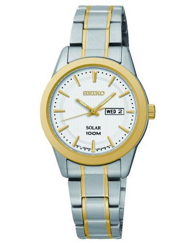 Womens Seiko Solar Stainless steel and gold SUT162P1 Watch