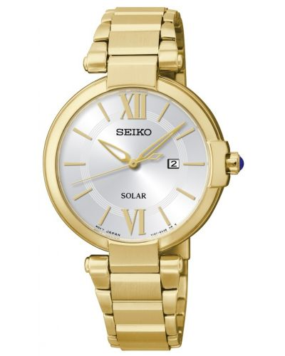 Womens Seiko Solar Thin bracelet gold SUT158P1 Watch