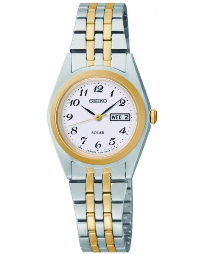 Womens Seiko Solar Stainless steel and gold SUT116P9 Watch
