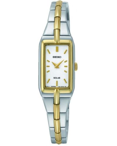 Womens Seiko Solar Stainless steel and gold SUP272P9 Watch