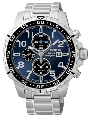 Mens Seiko Solar Stainless steel Chronograph SSC305P9 Watch