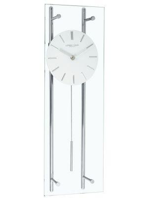 Glass and chrome pendulum wall clock | 02118