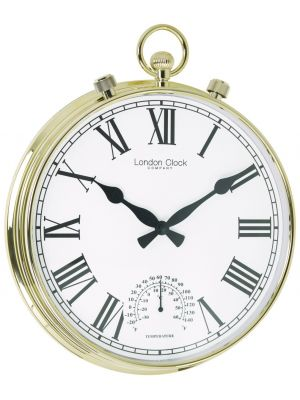 Weather resistant gold wall clock | 24385
