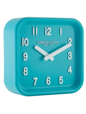 Teal square resin wall clock   06447