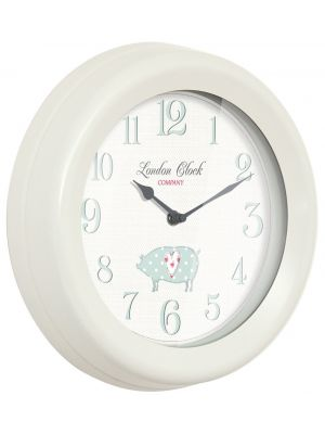 Cream metal cased wall clock | 24301