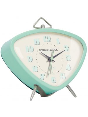 Retro mint green gloss finish metal alarm clock | 34367